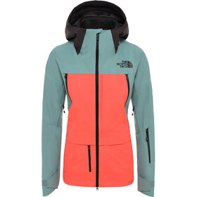 The North Face Ceptor Chaqueta Mujer, trellis green/radiant orange/weathered black